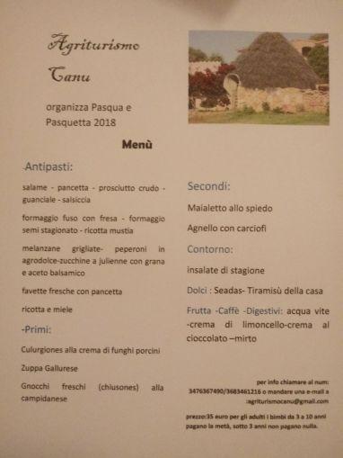 Agriturismo Canu Ostern 18